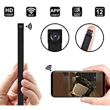 1080P WIFI Hidden Camera, DigiHero Mini WiFi Camera/Security Camera/Nanny Cam with WiFi Remote View/Motion Detection for Home/Office.Support iOS/Android/PC B