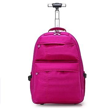 5cdcb510c5 DYYTR Carrello A Ruote A Rulli Trolley Business Travel Zaino A Ruote Laptop  Tablet Ragazza E Ragazzo Scuola Bagaglio Bag: Amazon.it: Sport e tempo  libero