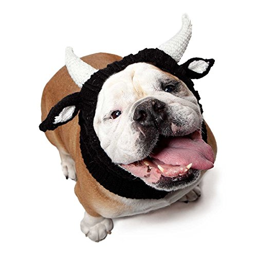 Zoo Snoods Bull Dog Costume - Neck and Ear Warmer Headband for Pets (Large) -
