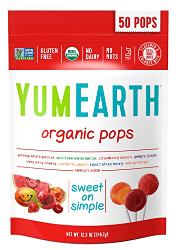 YumEarth Organic Lollipops, Assorted Flavors, 50 (Halloween Candy Pops)