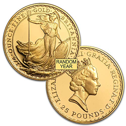 1997 UK -Present Great Britain Gold Britannia (Random Year) 1/4oz Brilliant Uncirculated