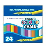 24 PCS DUSTLESS CHALK COLOR Kid Drawing walk Home school Office