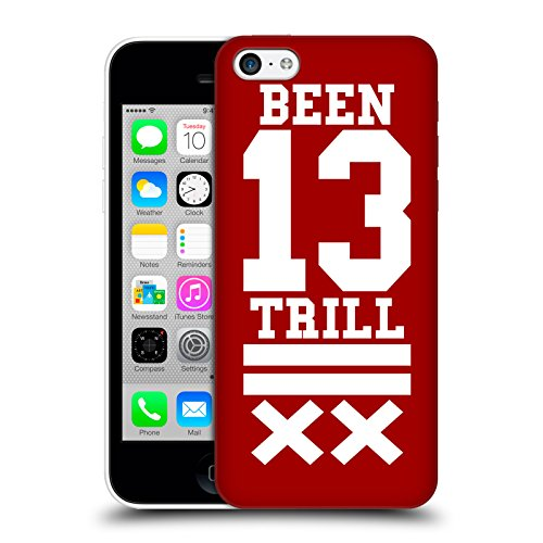 Official Been Trill Red X Jersey Hard Back Case for Apple iPhone 5c