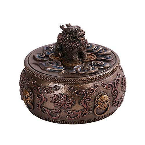 - Pacific Giftware PT Traditional Chinese Money Feng Shui Chi Lin Dragon Horse Drum Box Resin Home Decor Figurine