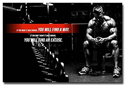 Tomorrow sunny Fitness Bodybuilding Silk Poster Print 24x36 Inches Gym Decor Pictures 048