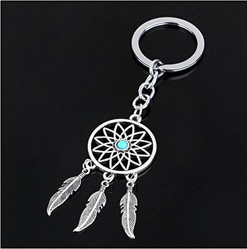 kimberleystore Creative Antique Silver Fashion Dreamcatcher Pendant Keyring Keychain