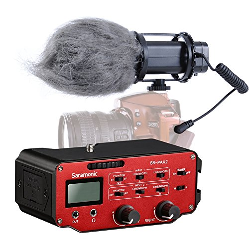 Movo DSLR Audio Bundle with X/Y Stereo Video Microphone and Premium Mixer for DSLR Cameras & Camcorders
