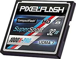 PixelFlash 32 GB 1106x Compact Flash Memory Card VPG-65