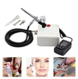 Best Sunshine Portable Mini Airbrush Air Compressor Kit, Multi-Purpose Dual-Action Airbrush Set, Air Brush Spray Gun for Tattoo, Cake Decorating, Nail Beauty, Makeup, Painting