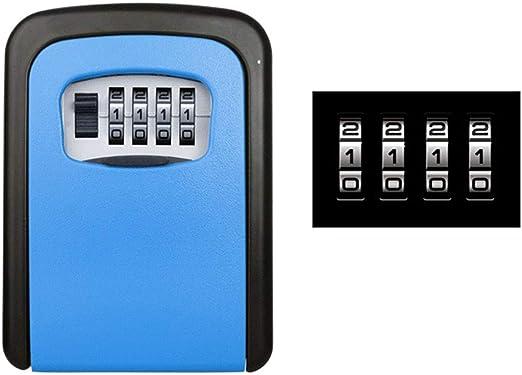 Caja De Seguridad Con Llave, Con Caja De Llave De 4 Dígitos, Caja ...