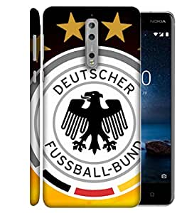ColorKing Football Germany 14 Multicolor shell case cover for Nokia 8
