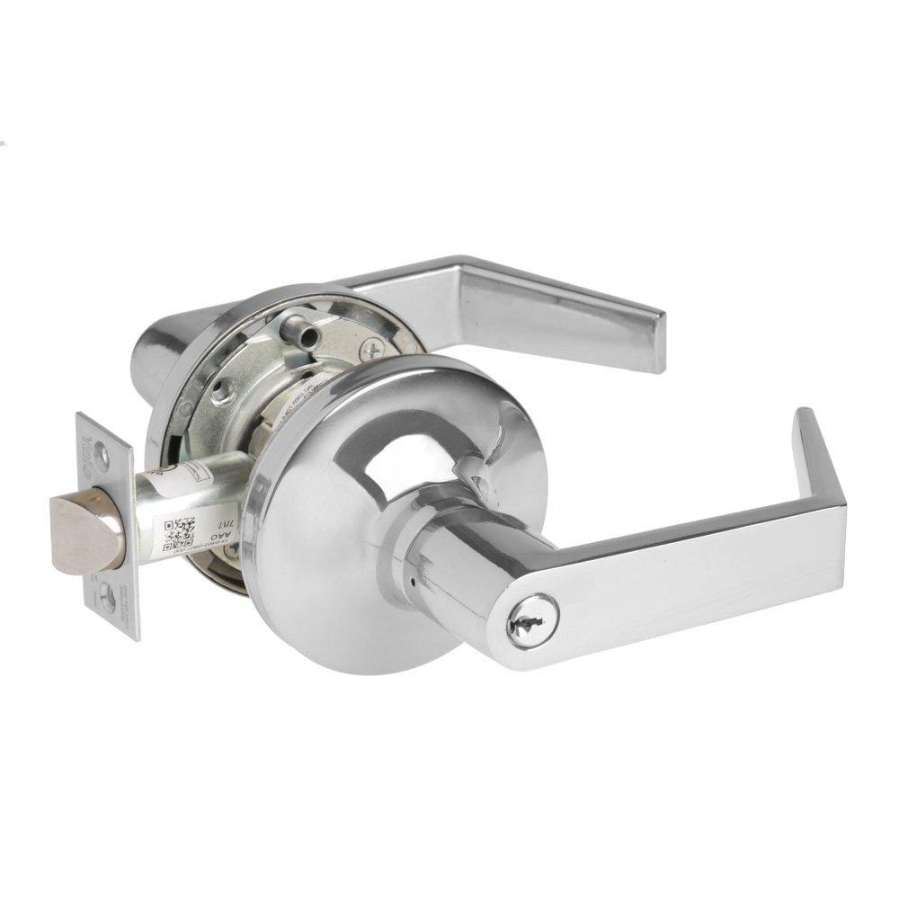 Grade 1 Storeroom Brass//Steel//Zinc//Stainless Steel Yale Security Inc Yale Security AU 5405LN 625 2-3//4 Backset Bright Polished Chrome 625