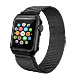 BEA FASHION For Apple Watch Band 38mm 42mm Milanese Loop Stainless Steel Replacement Band with Metal protective Case for Apple Watch Series 3 Series 2 Series 1 Sport & Edition