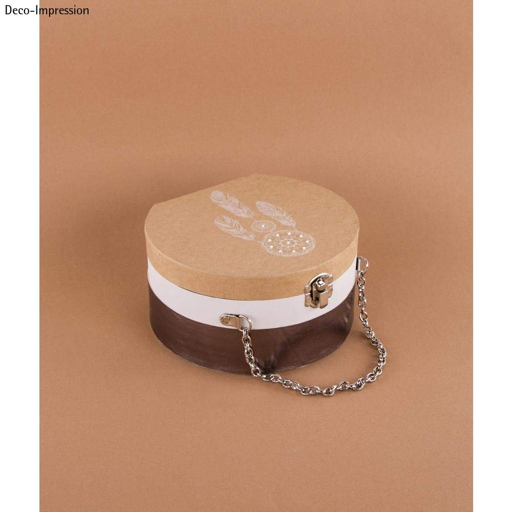 100/% Metallkette Rayher 67282521 Pappm FSC Rec kraft 16,5x15,5x8,5cm m Koffer rund