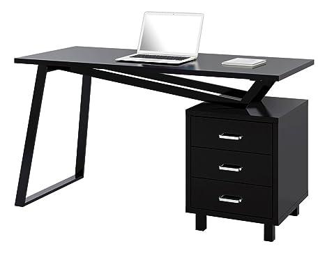 Scrivania Ufficio Bianco Lucido : Sixbros scrivania per computer pc da ufficio scrivania laccato
