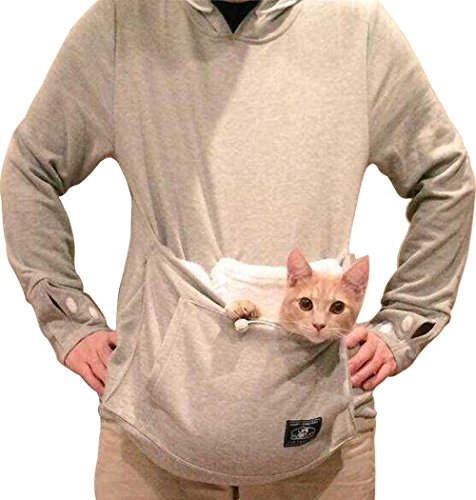 Bode®women Large Pocket Pet Cat Hoodie Fleece 51eOw 2B6f59L