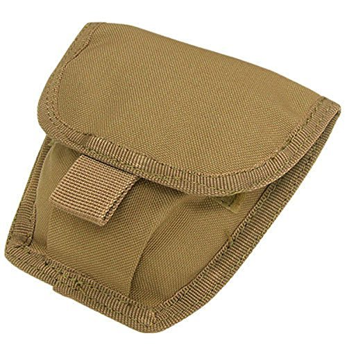 CONDOR MA47 MOLLE Modular Belt Mount Double Handcuff Pouch COYOTE BROWN - Coyote Double Hook