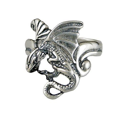 (Sterling Silver Dragon Ring Size 7)