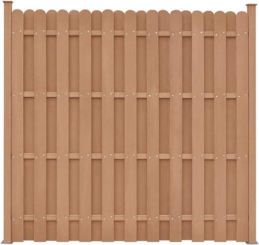 SOULONG Panel de Valla Madera,Panel de Valla para Jardin,Panel de Valla Cuadrado con 2 Postes WPC Marrón 180x180 cm: Amazon.es: Hogar