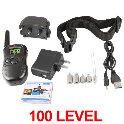KCRIUS(TM) Rechargeable remote dog training shock and vibration collar (Style E)