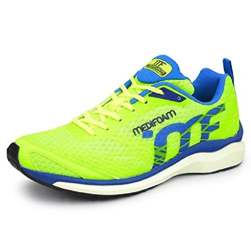 ランニングシューズ メンズ アキレス メディフォーム MEDI FOAM ジョギング マラソン 男性用 ACHILLES SORBO ソルボ 靴 /MFR1000 B07196VGQL 25.5 cm イエローグリーン