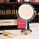 MAZIMARK--Round Magnifying LED Lighted Vanity Mirror Make Up Cosmetic Bathroom Shaving USA