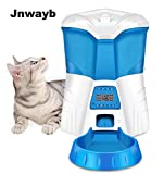 Jnwayb Automatic Pet Feeder with Voice Recorder and Timer Programmable Automatic Food Dispenser 6-Meal for Dogs and Cats Desiccant can be placed