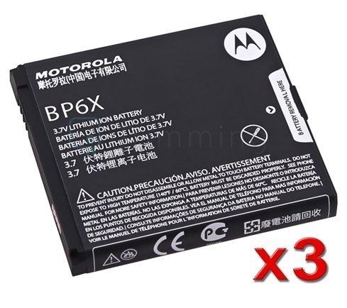3-Pack Li-ion BP6X Battery For Motorola Droid A855 Droid 2 A955 CLIQ MB200