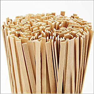 Cafe Grade, Biodegradable Wood Coffee Stirrer 1000 Ct, 5.5 In. Bulk Birch Wooden Beverage Stirring Stick for Tea, Cream or Sugar. Best Eco Friendly, Compostable Swizzle Stir Sticks Business Supplies