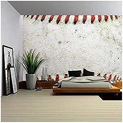 wall26 - Macro Image of a Used Baseball. - Removable Wall Mural | Self-adhesive Large Wallpaper - 100x144 inches