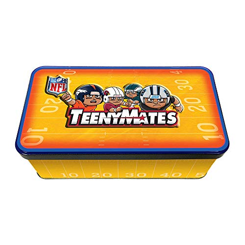 (Party Animal NFL TeenyMates Collector Tin, 4 NFL Series 5 Blind Packs Inside)