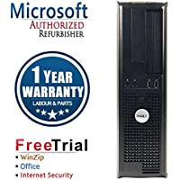 Dell 745 Business High Performance Desktop Computer PC (Intel C2D E6300 1.86G,2G RAM DDR2,80G HDD,DVD-ROM,Windows 10 Professional)(Certified Refurbished)