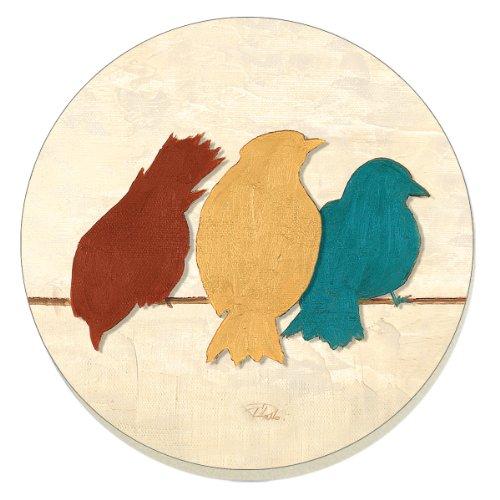 CounterArt Absorbent Coasters Birds Line