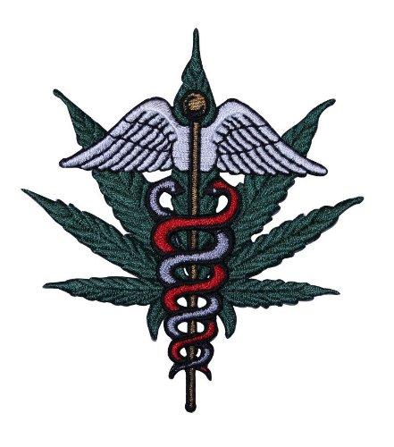 Novelty Iron on - Weed Medical Marijuana Pot Leaf Patch
