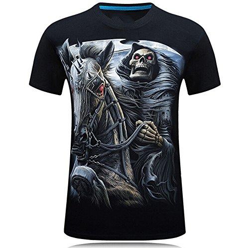 Sevem-D 3D T-Shirt Mens Summer Animal Snake Tiger Wolf Lion