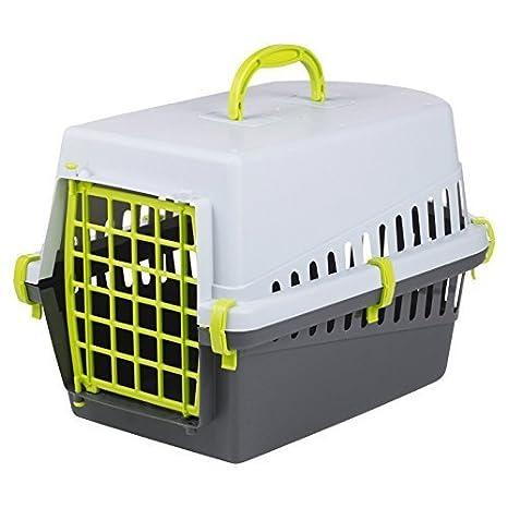 Cesta y jaula portátil de viaje para perro o gato con puerta negro y