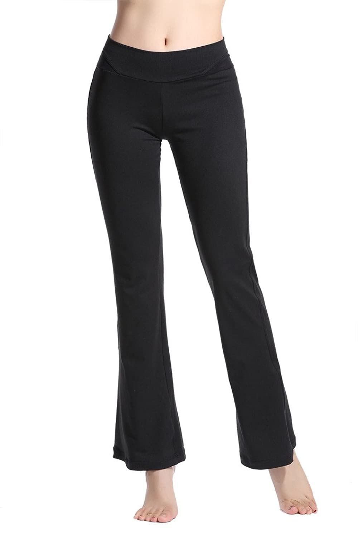 Lotsyle Womens Mesh Yoga Active Workout Pants Spilicing Leggings Capri Pants
