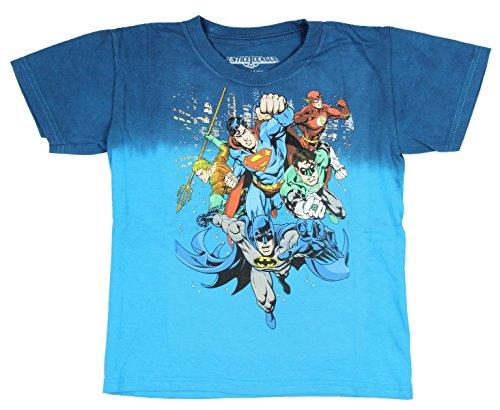 DC Comics Justice League Superman Flash Batman Aquaman Green Lantern T-Shirt 2XL