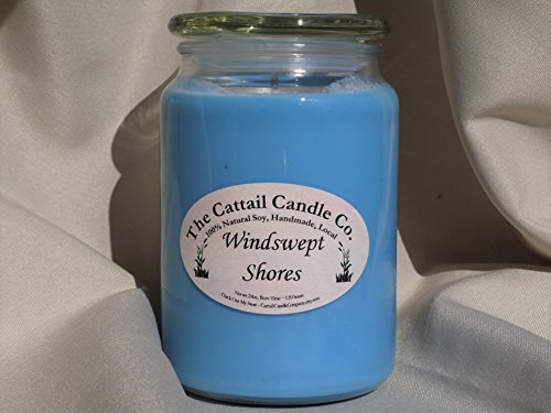 Candle Cattail (Windswept Shores - 100% Soy Candle, 24 fl oz)