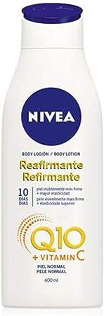 NIVEA Q10 Body Loción Reafirmante con Vitamina C (1 x 400 ml), loción hidratante corporal para piel normal, coenzima Q10 para una piel elástica en 10 días