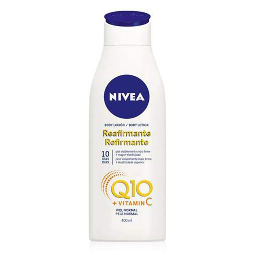 NIVEA Q10 Body Loción Reafirmante con Vitamina C (1 x 400 ml),loción hidratante corporal para piel normal, coenzima Q10 para una piel elástica en 10 días
