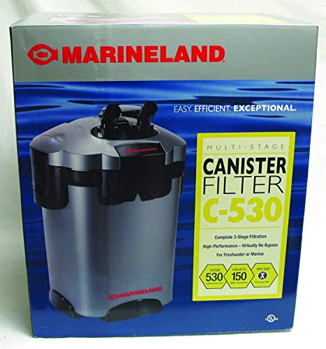 MarineLand Multi-Stage Canister Filter for Aquariums, ()