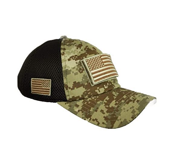 882aabee5de16 Image Unavailable. Image not available for. Color  Come On Style Shop Military  Army American US Flag Hunting Baseball Cap Mesh Trucker Adjustable Sport