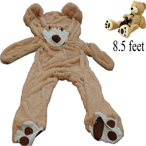 8.5 Ft (102'') Giant Teddy Bear Cover Light Brown Valentine's Day Present