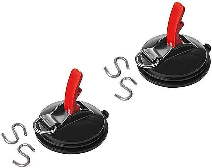 Accesorio de succión Copa de múltiples funciones de la Copa de Tipo de Auto Clamp succión del coche de la Copa Heavy Duty de ventana tazas cada una con ganchos múltiples funciones