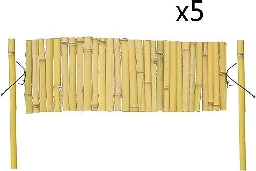 ZHANWEI Valla de jardín Bambú Madera Plegable Bordura de jardín Decorativo Patio Pared Frontera Borde, 4 Tamaños (Color : 5pcs, Size : 120x60cm): Amazon.es: Jardín