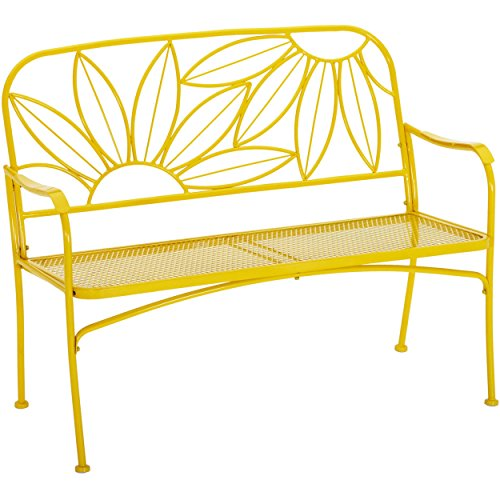 Mainstays Outdoor Patio Furniture Bench (Sunny Yellow)