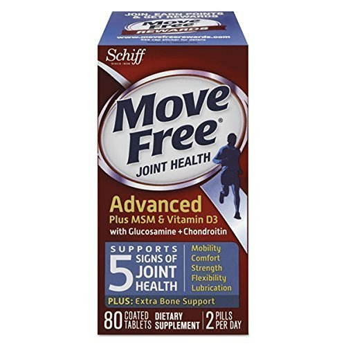 Move Fr Advanced+ MSM/Vit D, 80 tab ( Multi-Pack) by SCHIFF