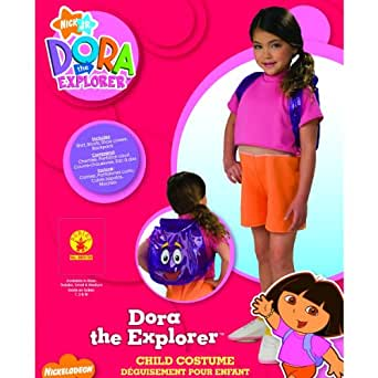 amazoncom dora the explorer costume medium clothing