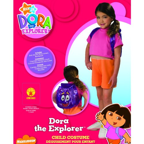 Nick Jr. Dora the Explorer Child's Dora Costume with Backpack, -